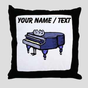 Custom Piano Throw Pillow