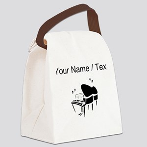 Custom Piano Canvas Lunch Bag