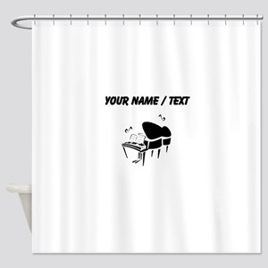 Custom Piano Shower Curtain