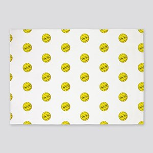 Water Polo Ball Pattern 5'x7'Area Rug