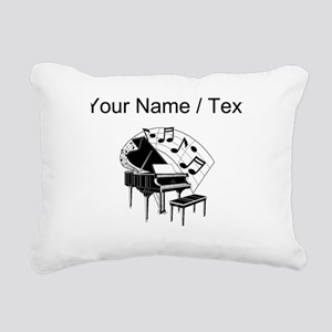 Custom Piano Rectangular Canvas Pillow