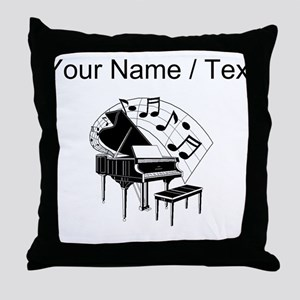 Custom Piano Throw Pillow