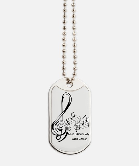 MusicExpression Dog Tags