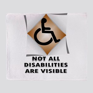 DISABILITY NOT Throw Blanket