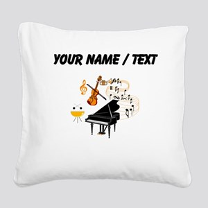 Custom Musical Instruments Square Canvas Pillow