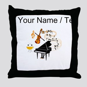 Custom Musical Instruments Throw Pillow