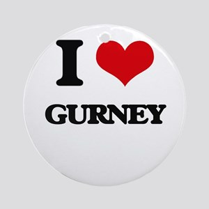 I Love Gurney Ornament (Round)