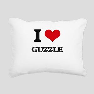 I Love Guzzle Rectangular Canvas Pillow