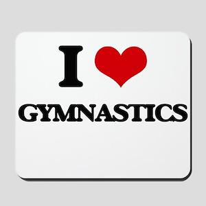 I Love Gymnastics Mousepad