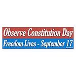 Constitution Day Bumper Sticker