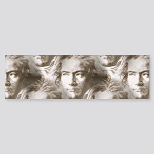 Beethoven Portrait Pattern Bumper Sticker