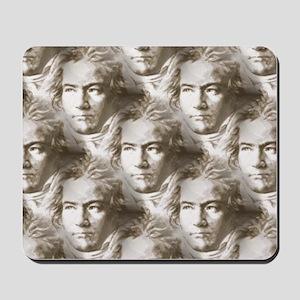 Beethoven Portrait Pattern Mousepad