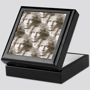 Beethoven Portrait Pattern Keepsake Box