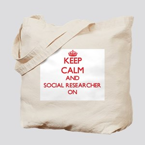 Keep Calm and Social Researcher ON Tote Bag