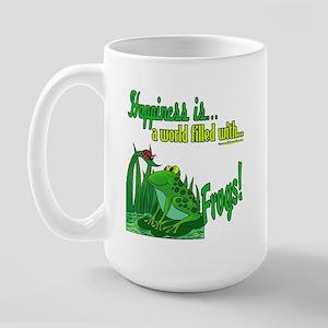 Happiness is a Frog Large Mug