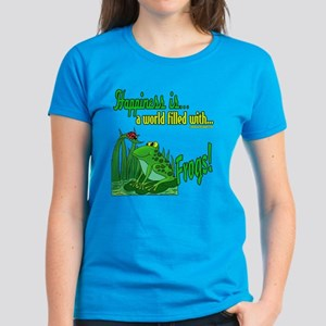 Happiness is a Frog Women's Dark T-Shirt