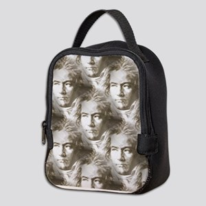 Beethoven Portrait Pattern Neoprene Lunch Bag
