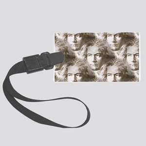 Beethoven Portrait Pattern Large Luggage Tag