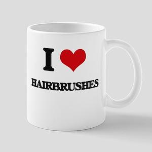 I Love Hairbrushes Mugs