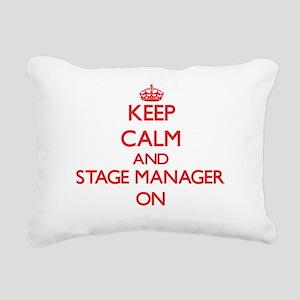 Keep Calm and Stage Mana Rectangular Canvas Pillow