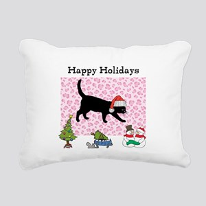 Santa Kitty Happy Holidays Rectangular Canvas Pill