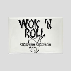 Wok 'N Roll Rectangle Magnet