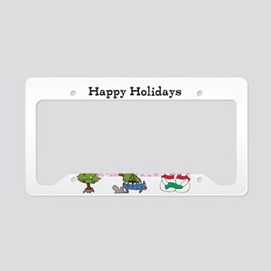 Santa Kitty Happy Holidays License Plate Holder