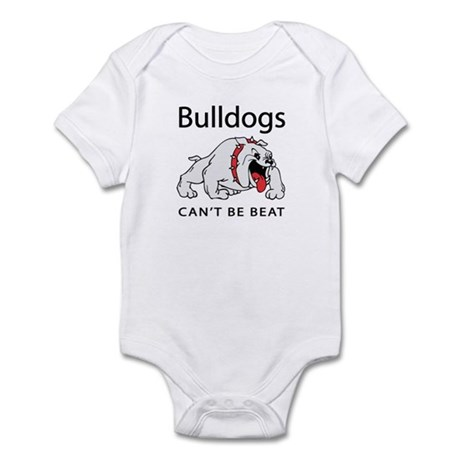 Bulldogs can't be beat Infant Bodysuit