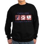 FIN-ckcs-pawprints Sweatshirt (dark)