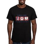 FIN-ckcs-pawprints Men's Fitted T-Shirt (dark)