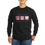 FIN-ckcs-pawprints Long Sleeve Dark T-Shirt