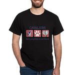 FIN-ckcs-pawprints Dark T-Shirt
