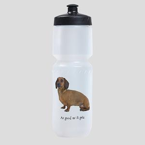 FIN-dachshund-smooth-good Sports Bottle