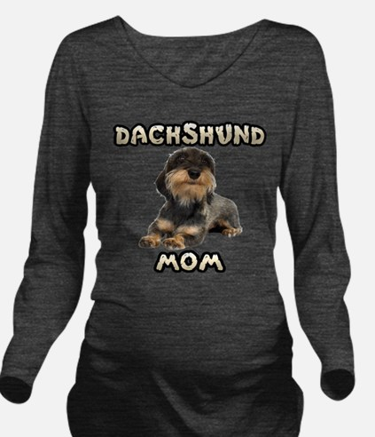 Wirehaired Dachshund Mom Long Sleeve Maternity T-S