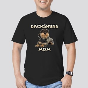 Wirehaired Dachshund Mom Men's Fitted T-Shirt (dar