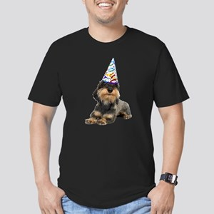 Wirehaired Dachshund Party Men's Fitted T-Shirt (d