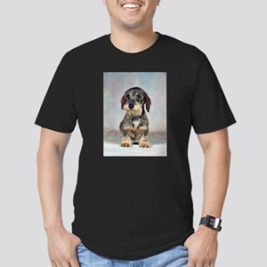 FIN-wirehaired-dachshund-PRINT-9x12 Men's Fitt