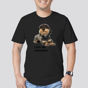 FIN-wirehaired-dachshund-love Men's Fitted T-S