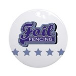 Foil Fencing Round Ornament