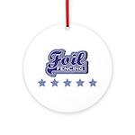 Foil Fencing Round Ornament