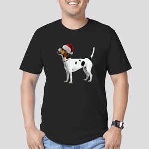 FIN-english-foxhound-santa-CROP Men's Fitted T