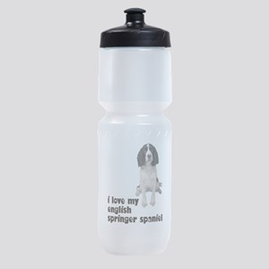 FIN-springer-spaniel-brown-love Sports Bottle