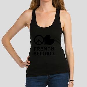 FIN-peace-love-french-bulldog Racerback Tank T