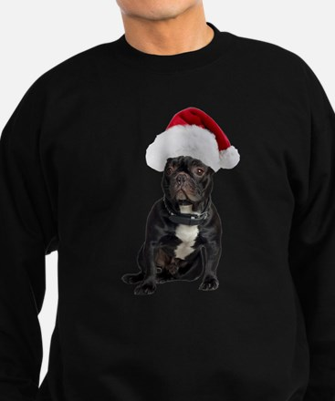 FIN-french-bulldog-santa.png Sweatshirt (dark)