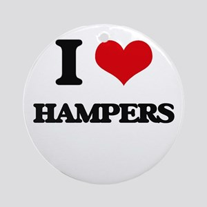 I Love Hampers Ornament (Round)