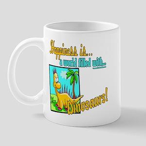 Happiness is Dinosaurs Mug