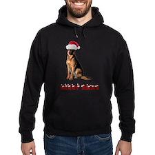 German Shepherd Christmas Hoodie (dark)