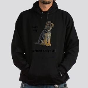 FIN-german-shepherd-puppy-love Hoodie (dark)