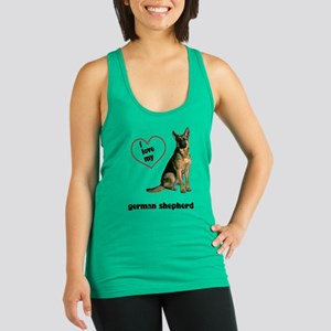 FIN-german-shepherd-love Racerback Tank Top