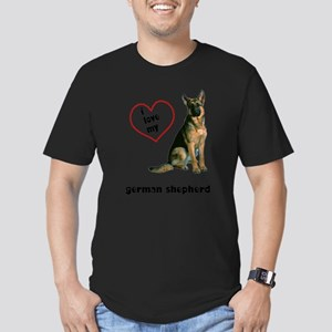 FIN-german-shepherd-love Men's Fitted T-Shirt